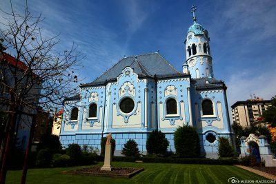 The Blue Church of St. Elizabeth