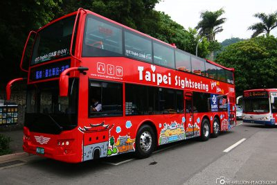 Der Hop On Hop Off Bus in Taipeh
