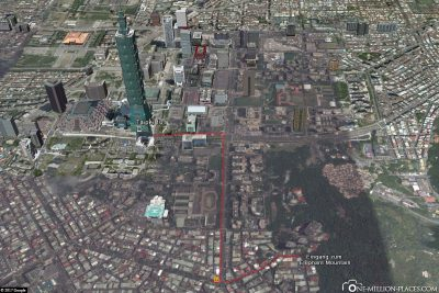 The path from Taipei 101 to Elephant Mountain