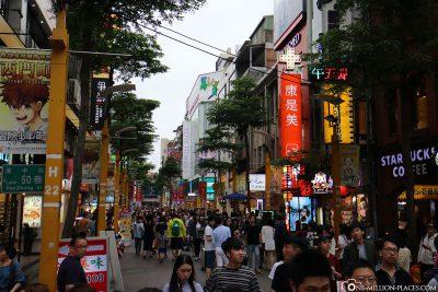 Fußgängerzone in Ximending