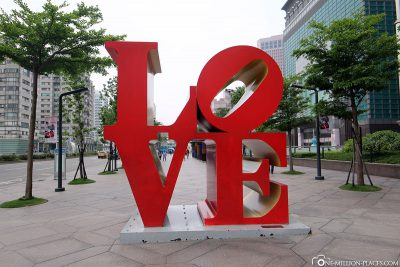 The Love Sculpture in Taipei
