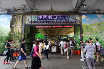 The entrance to the flower market