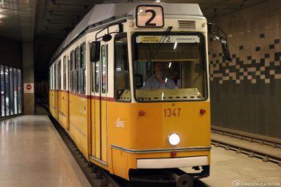 Die Straßenbahn in Budapest