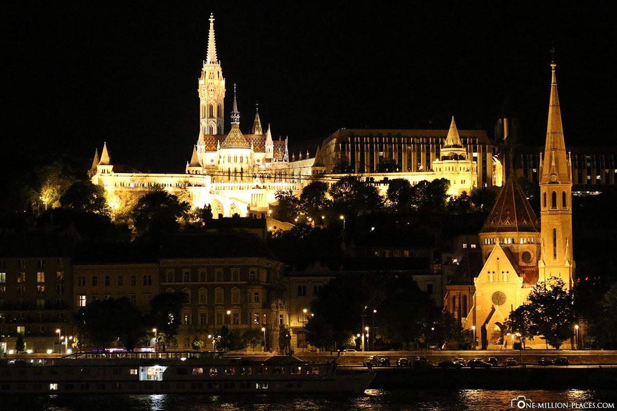 Fischerbastei, Budapest bei Nacht, Ungarn, Fotospot, Sehenswürdigkeiten, Auf eigene Faust, Reisebericht