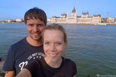 Selfie mit dem Parlament
