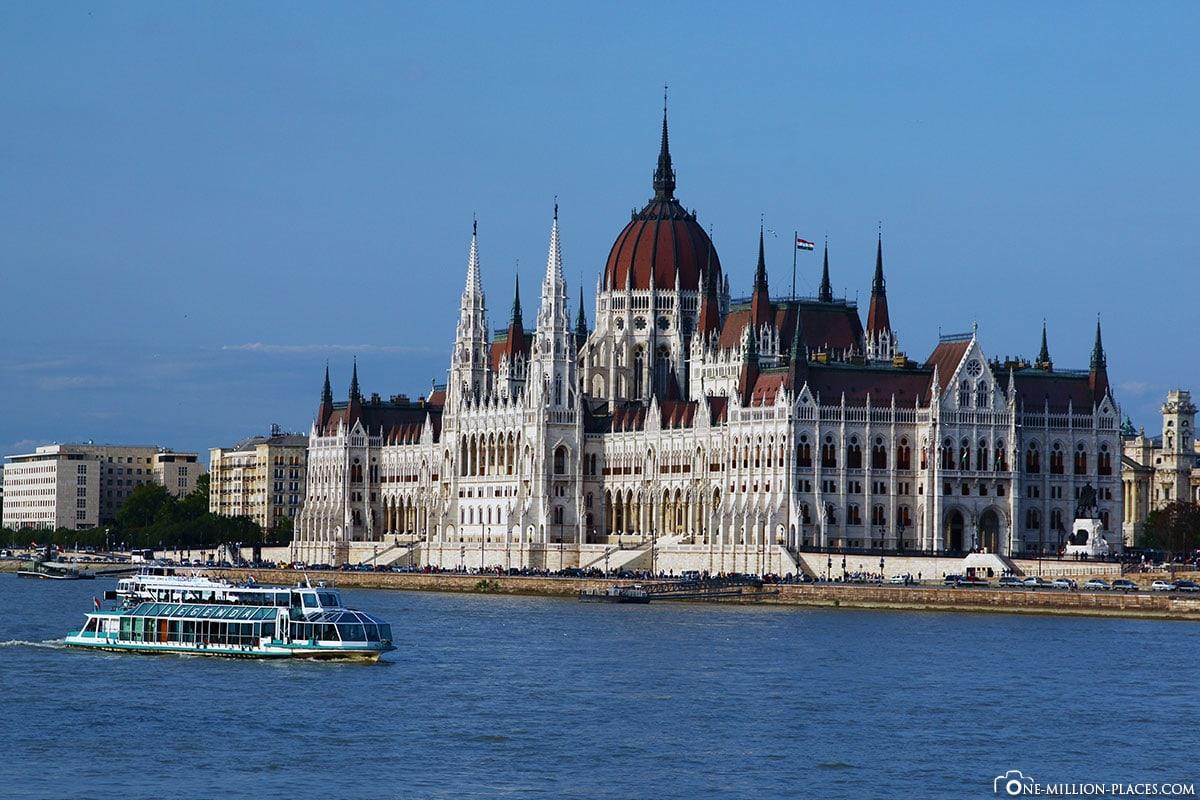 Parlament, Parlamentsgebäude, Budapest, Ungarn, Sehenswürdigkeiten, Pester Seite