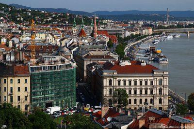 Blick auf die Buda Seite der Donau