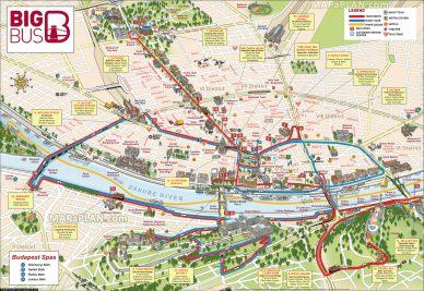 Eine Stadtkarte von Budapest