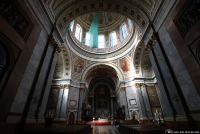 The interior of the basilica