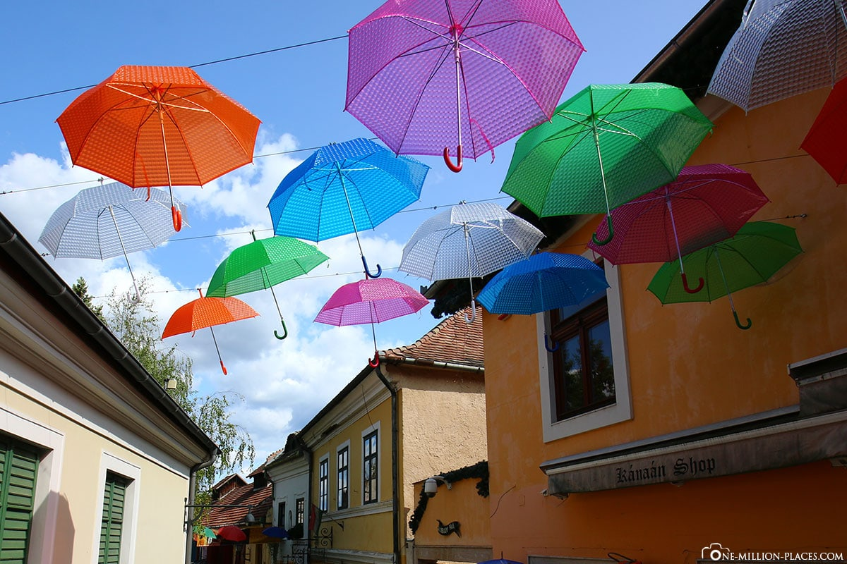 Umbrellas, Old Town, Szentendre