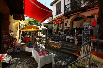 The shopping streets in Nicosia