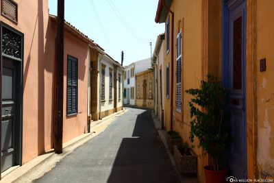 The colourful alleys in Nicosia