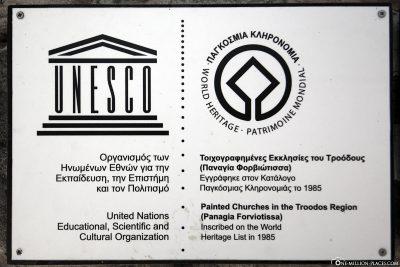 UNESCO Auszeichnung für Panagia tis Asinou