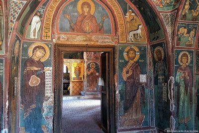 Der Innenraum der Kirche Panagia tis Asinou