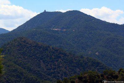 Die Lage des Klosters Kykkos