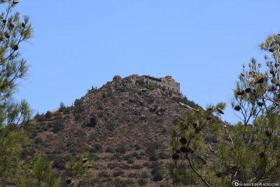 Die Lage des Klosters Stavrovouni
