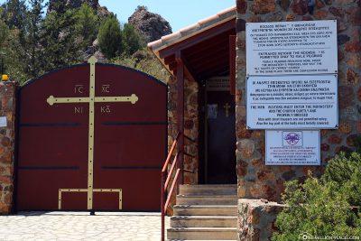Der Eingang zum Kloster