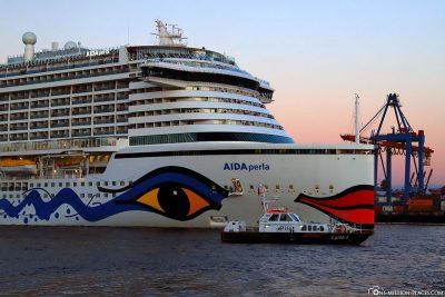 The cruise ship of AIDA