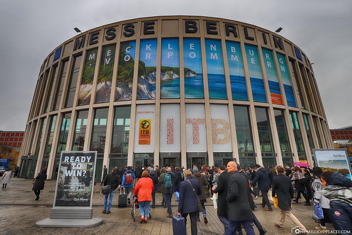 Entrance ITB 2018, Berlin, fair, Germany, travel report