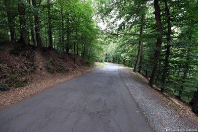 Der befestigte Weg zur Burg Eltz