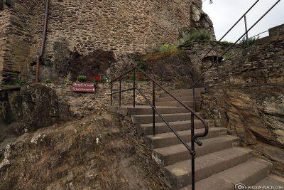 Aufgang zur Burgführung
