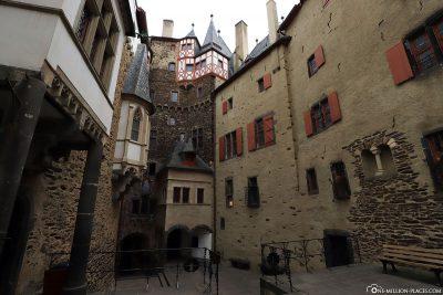 The courtyard of Eltz Castle