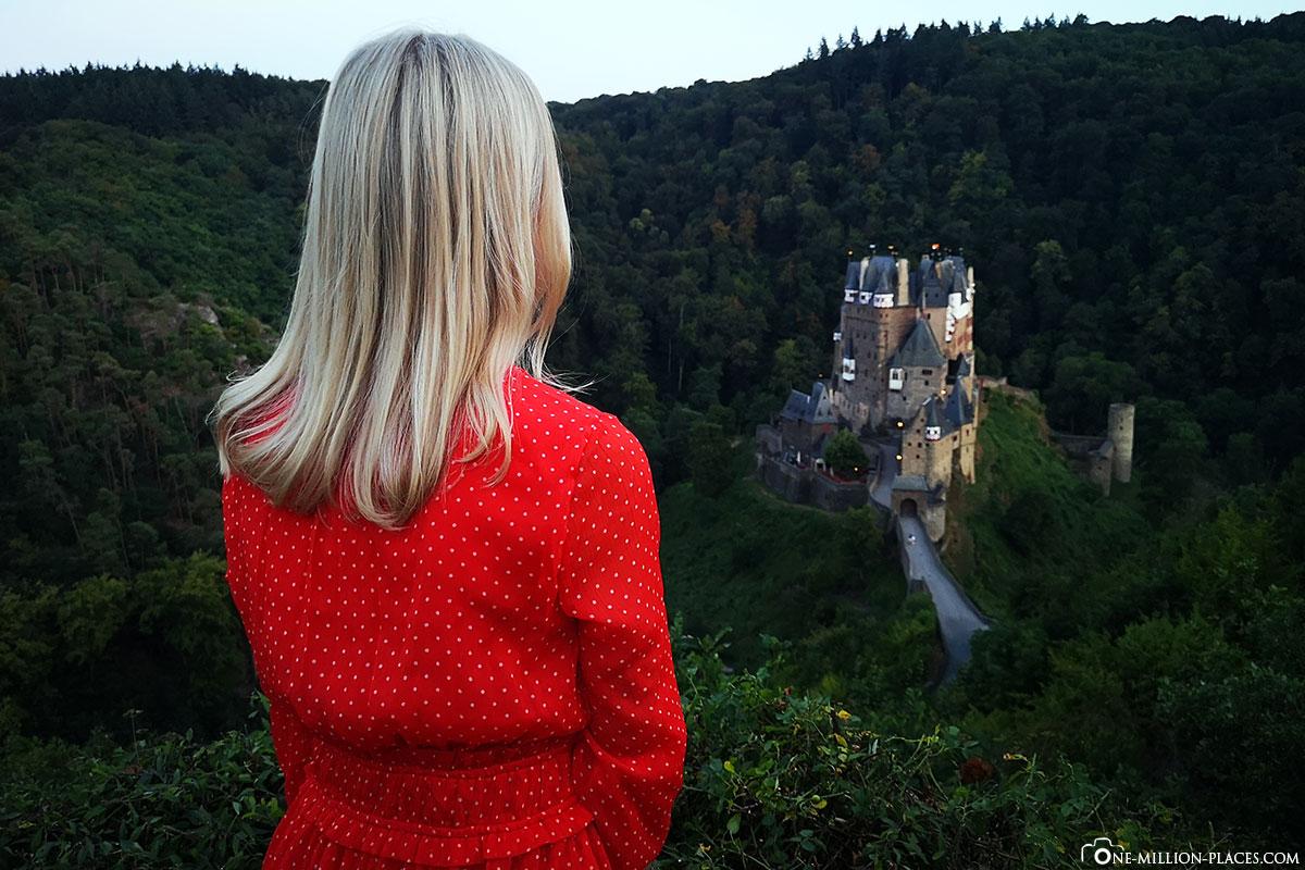 Observation platform, Eltz Castle, picture, photo, sights Rhineland-Palatinate