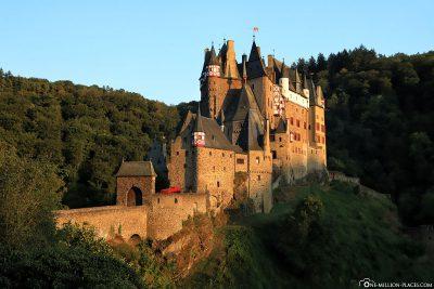 Eltz Castle at sunset