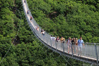 Die Hängeseilbrücke Geierlay