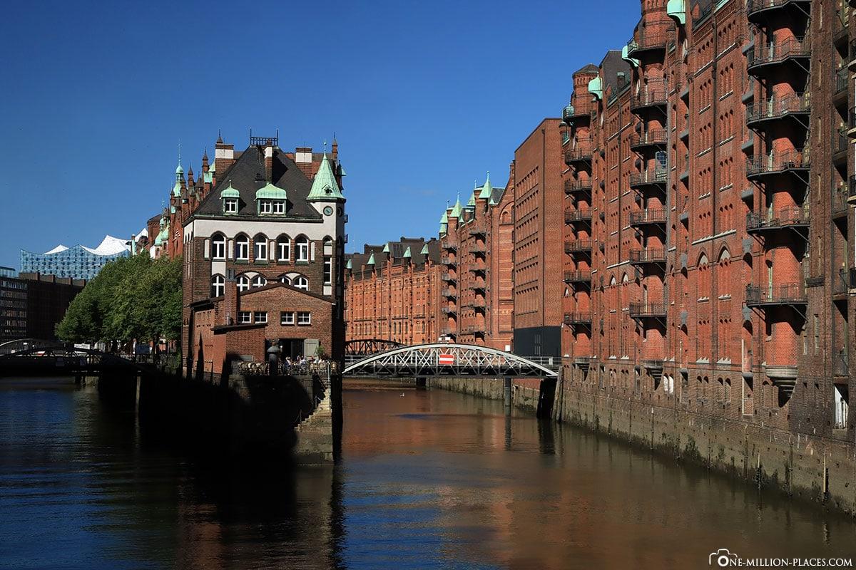 Wasserschloss, Wasserschlösschen, Hamburg, Speicherstadt, UNESCO Welterbe, Deutschland, Reisebericht