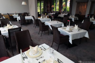 One of the restaurants in the hotel