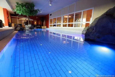The large pool in the hotel