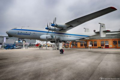 The outdoor area with the Antonov An-22