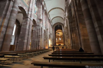 The central nave of the cathedral in Speyer