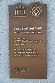 UNESCO Welterbe Barbarathermen