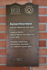 UNESCO Welterbe Kaiserthermen