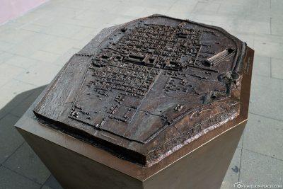 Ein Modell von Trier zur Römerzeit