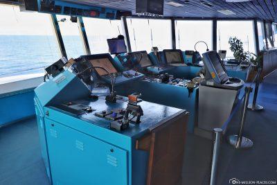 Besuch auf der Kommandobrücke
