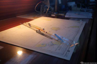 Seekarte im Ruderhaus
