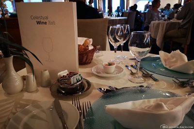 Abendessen im À-la-carte-Restaurant