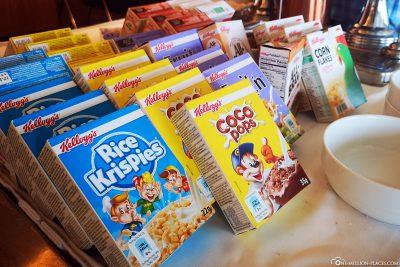 Cerealien beim Frühstück