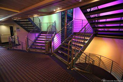 Treppenhaus auf dem Schiff