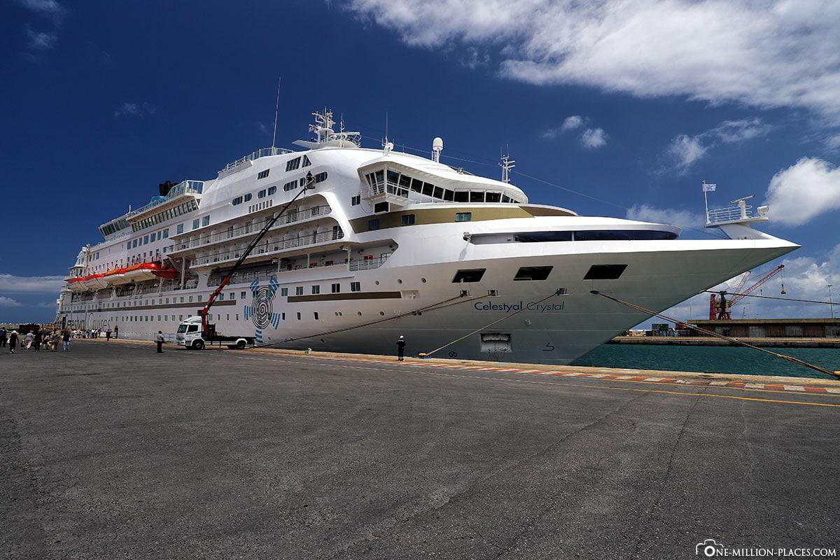 Hafen, Celestyal Cruises, Schiff, Kreuzfahrt, Griechenland, Ägäis, Kykladen