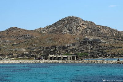 View from the ship of the ruins of Delos
