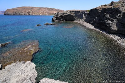 Crystal clear water in the Aegean Sea