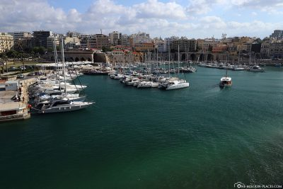 View of the marina and the city of Heraklion