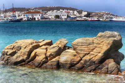 Blick auf Mykonos Stadt