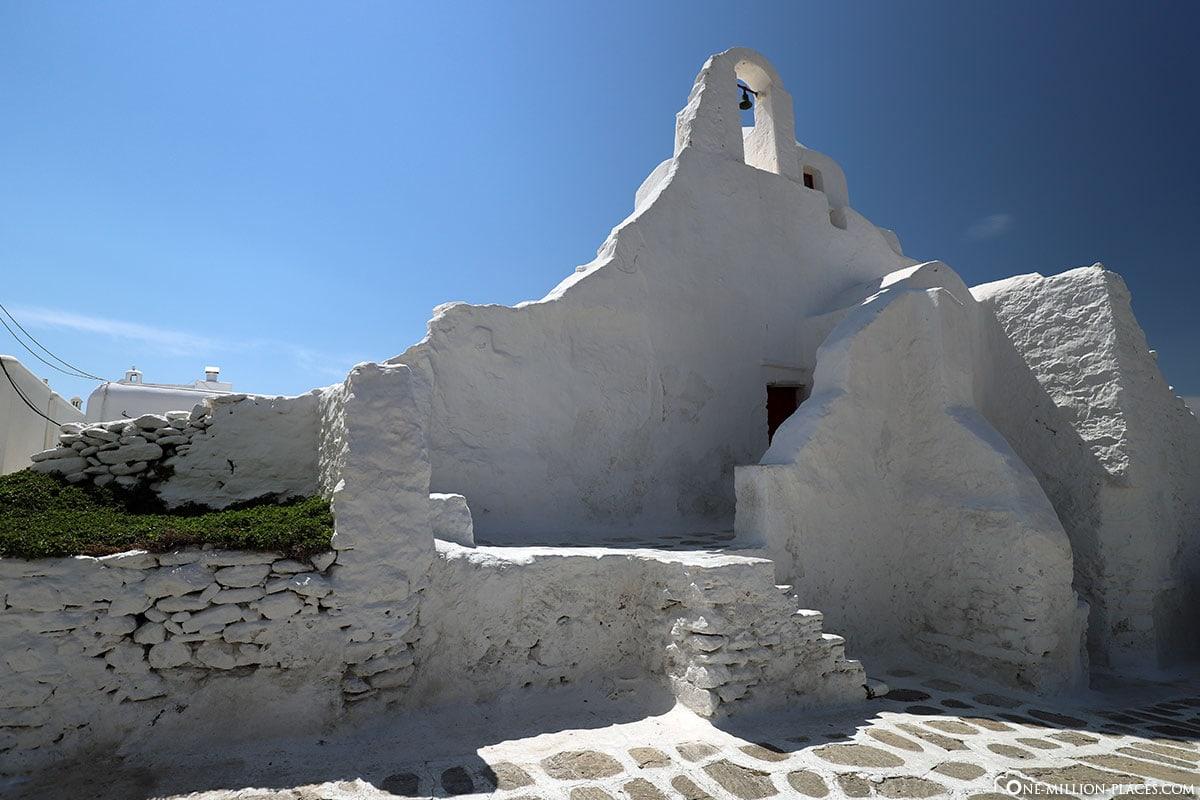 Kirche Paraportiani, Mykonos, Chora, Stadt, Gassen, Sehenswürdigkeiten, Bilder, Reiseblog