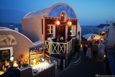 The Meteor Cafe in Oia