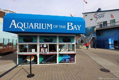 Eingang zum Aquarium of the Bay